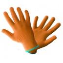 Rękawice dzianinowe R11 pomarańczowe (12 par)