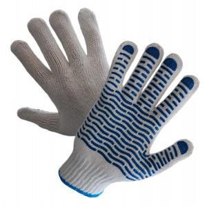 Rękawice dziane nakrapiane PCV R452 Wave ( 12 par )
