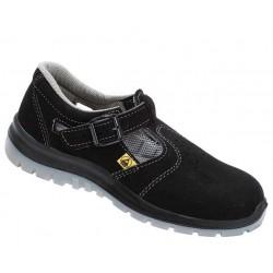 Sandały bezpieczne z metalowym podnoskiem chroniące przed efektem ESD